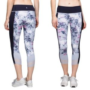 LULULEMON If You're Lucky Floral Crop Leggings